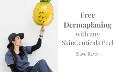 FREE Dermaplaning with any SkinCeuticals Peel